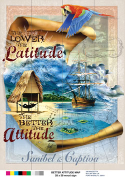 Lower Laititude, Better Atitude Sign