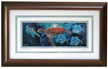 Cosmic Turtle Framed Signed Print