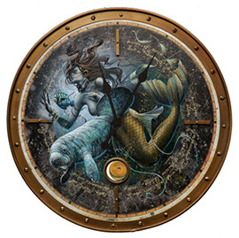 Mystical Mermaid Pendulum Clock