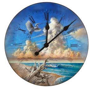 Upper Captiva Beach with Driftwood Clock