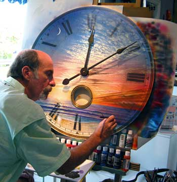 Jim Mazzotta Paints a Sunset Clock