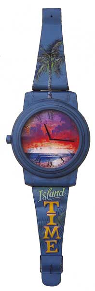 Island Time Sunset Wristwatch for the wall
