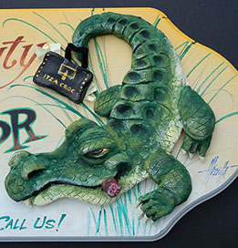Detail of Finished Alligator Sculpture