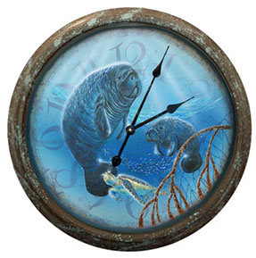Life in the Slow Lane Manatee Clock