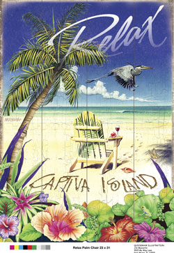 Relax on Captiva Island Sign