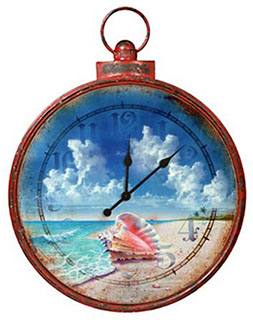 Queen Conch Stopwatch Clock for the Wall